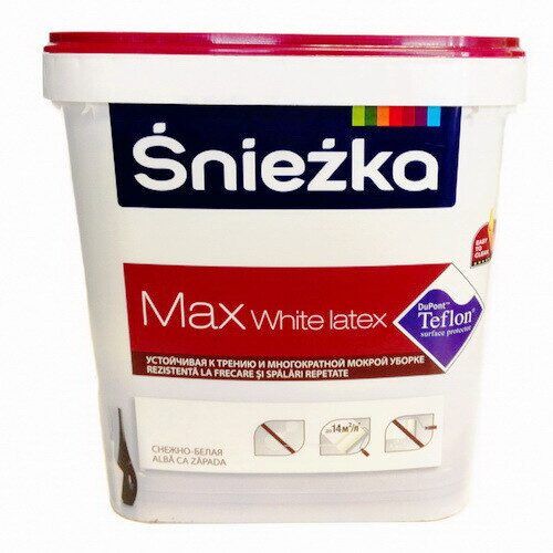 Краска SNIEZKA MAX White Latex белая, 5л